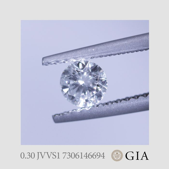 1 pcs Diamant - 0.30 ct - Brillant - J - VVS1