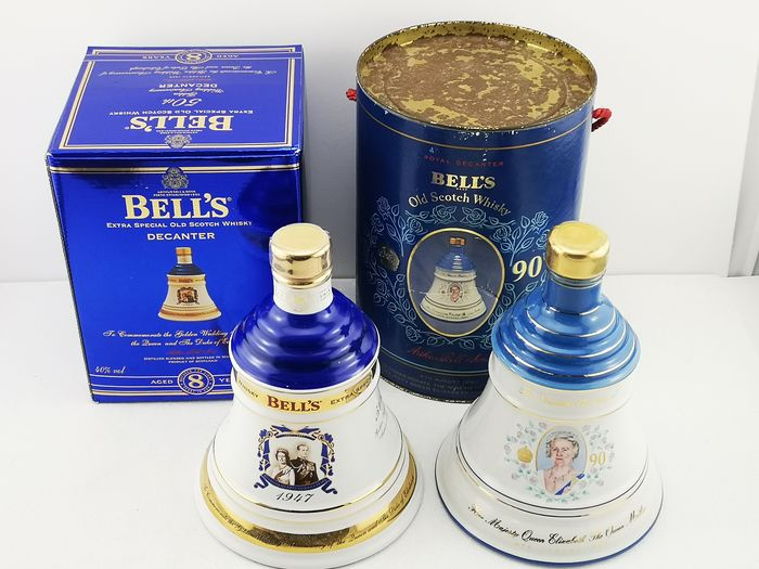 Bell's 90th Birthday Queen Elizabeth & 50th Wedding Anniversary of Queen and The Duke Of Edinburgh - 75cl - 2 bottles