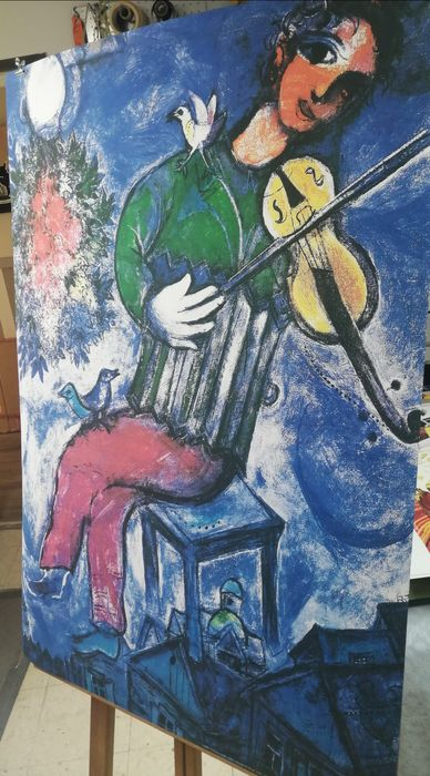 Marc Chagall - Violiniste Bleu - 1947 - Unknown