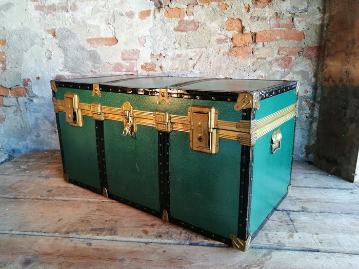 Large travel trunk from the 1950s
