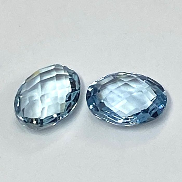 2 pcs  Acquamarina - 2.22 ct