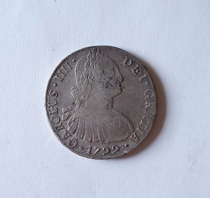 Spain - 8 Reales 1799 - Carlos IV - Lima - Silver