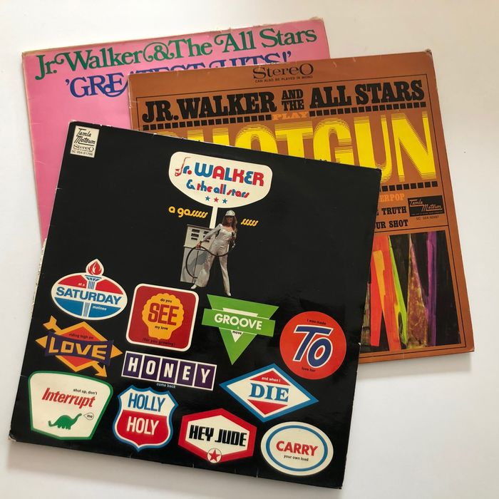 Jr. Walker & The All Stars - Collection of 3 vintage black/silver label Tamla-Motown LPs - Différents titres - LP's - 1967/1969
