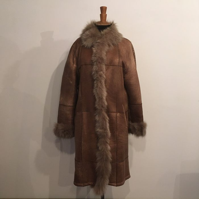 Philippe Vallereuil - Genuine Lamb - Long Leather and Fur Coat - Made in: France