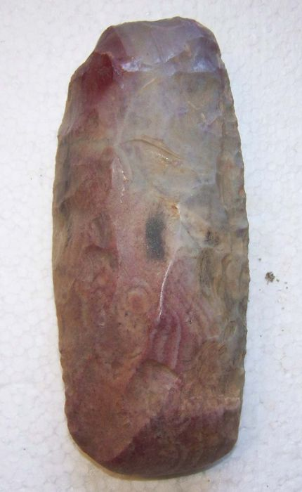 Prehistoric, Neolithic Stone stone cut and cut ax - 4.7×7.2×16.8 cm - (1)