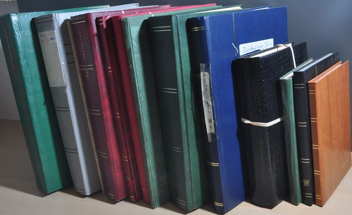 Germany various periods - Large box filled with stock books with bulk, series and much more
