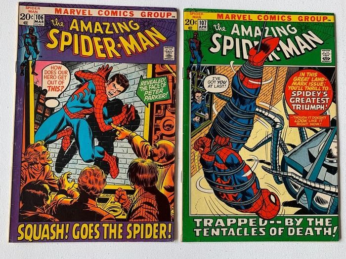 Amazing Spider-Man #106-107 - Very High Grade - Amazing Spider-Man Issues (Spiderslayer Appearance) - Broché - EO - (1972/1972)