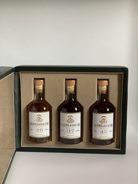 Glenglassaugh Rare Cask Series 26 - 37 - 43 years old - Original bottling - 3 x 200ml - 3 bottles