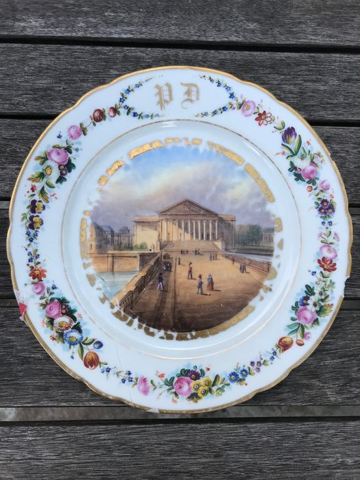 Dubois & Cie, Rue de Paradis Poissoniere  - Plates, Views of Paris (12) - Porcelain
