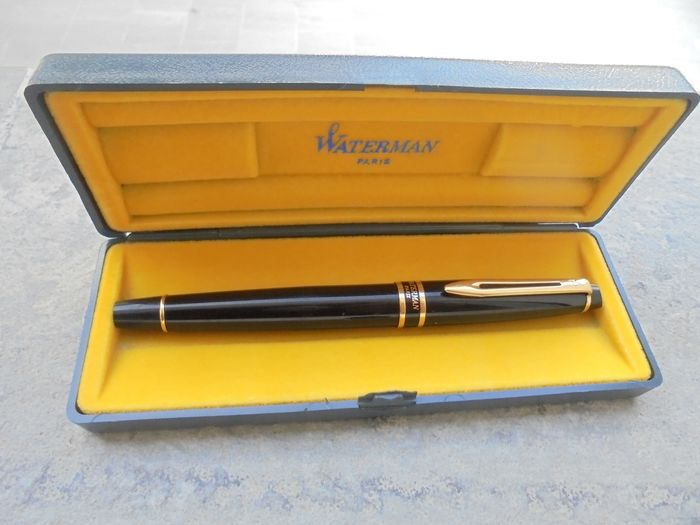 Waterman - Fountain pen - Black Waterman Expert feather with plaque details