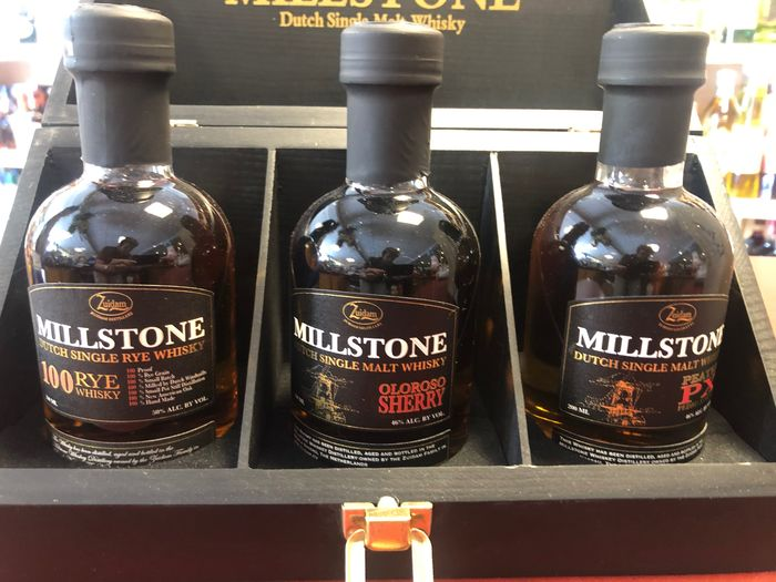Millstone Wooden giftbox with 3 bottles - Original bottling - 20cl - 3 bottles
