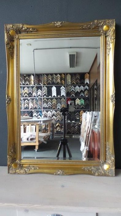 Large Mirror with faceted glass