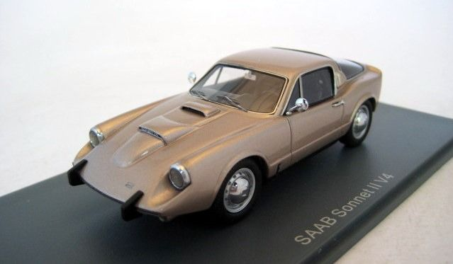 Neo Scale Models - 1:43 - Saab Sonett II V4 Coppermetallic 1966 - Limited Edition - Mint Boxed - Factory Sold Out