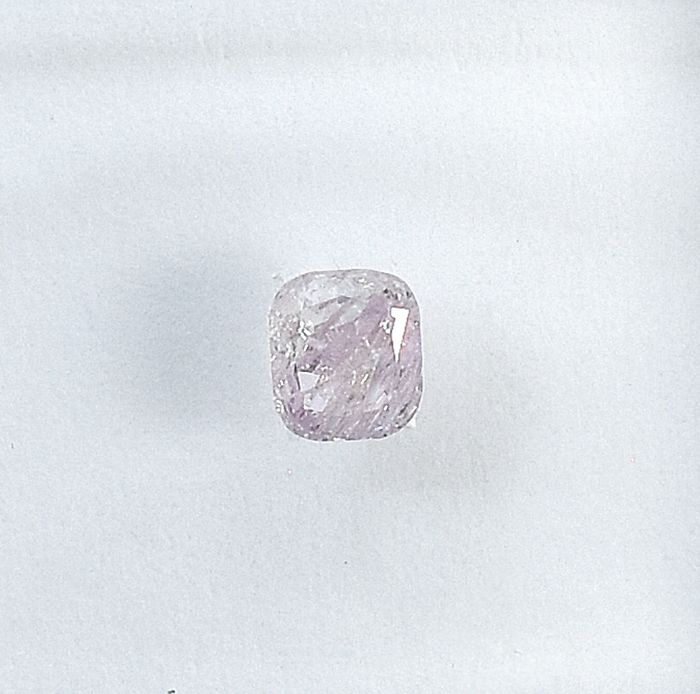 Diamant - 0.15 ct - Kissen - Natural Fancy Light Pink - I3 - NO RESERVE PRICE