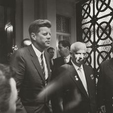 James Whitmore, LIFE Magazine - J.F. Kennedy and N. Khrushchev leaving Soviet Embassy