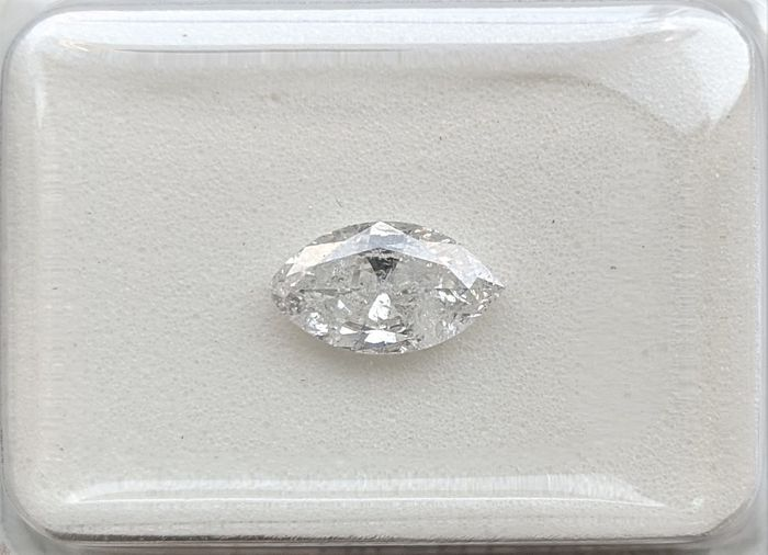 Diamond - 0.48 ct - Marquise - D (colourless) - I1, No Reserve Price