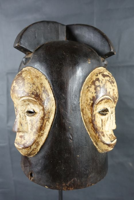 Helmet Mask - Wood - Ngontang - fishing - Gabon