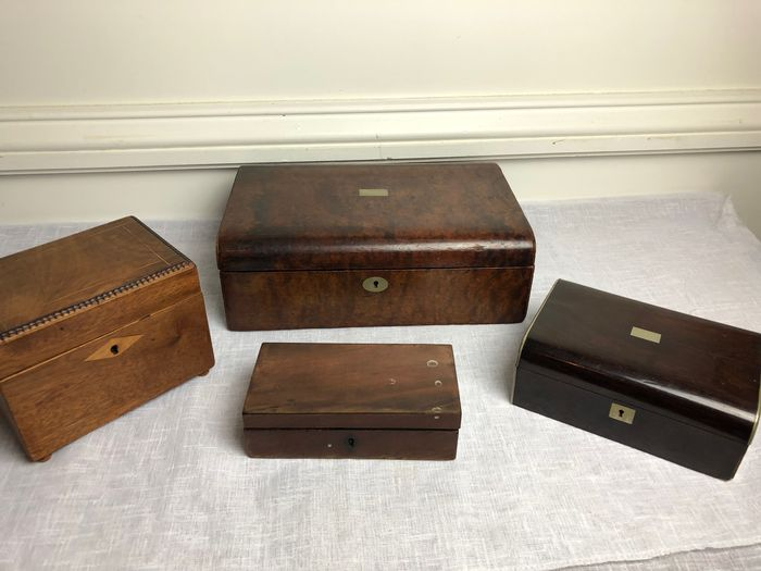 Four Georgian and Victorian trinket boxes (4)