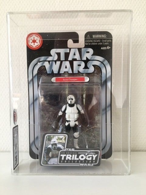 Star Wars - Hasbro - Pupazzetto Scout Trooper UKG Graded - 2004