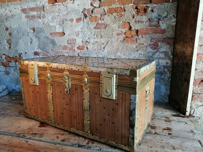 Large traveler's trunk from the 1950s