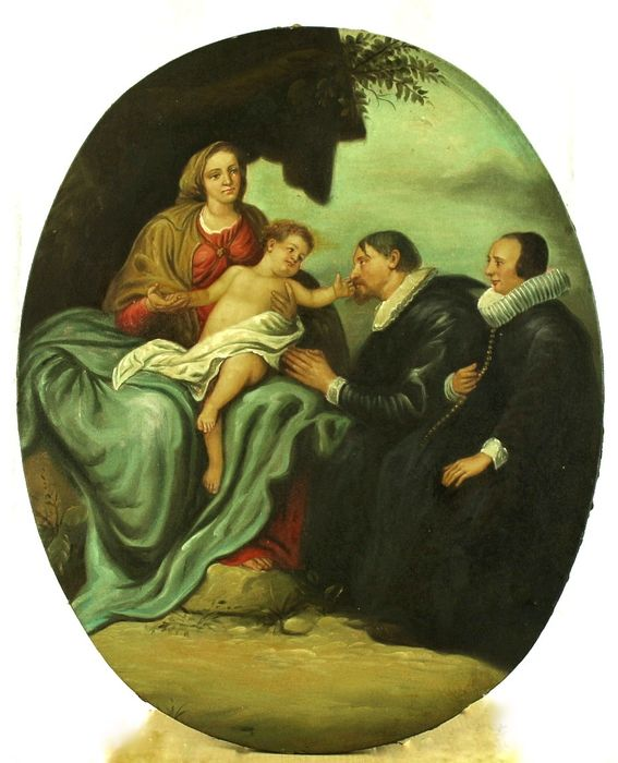 Madonna con Bambino e Committenza - oil on canvas - Fine XVIII secolo