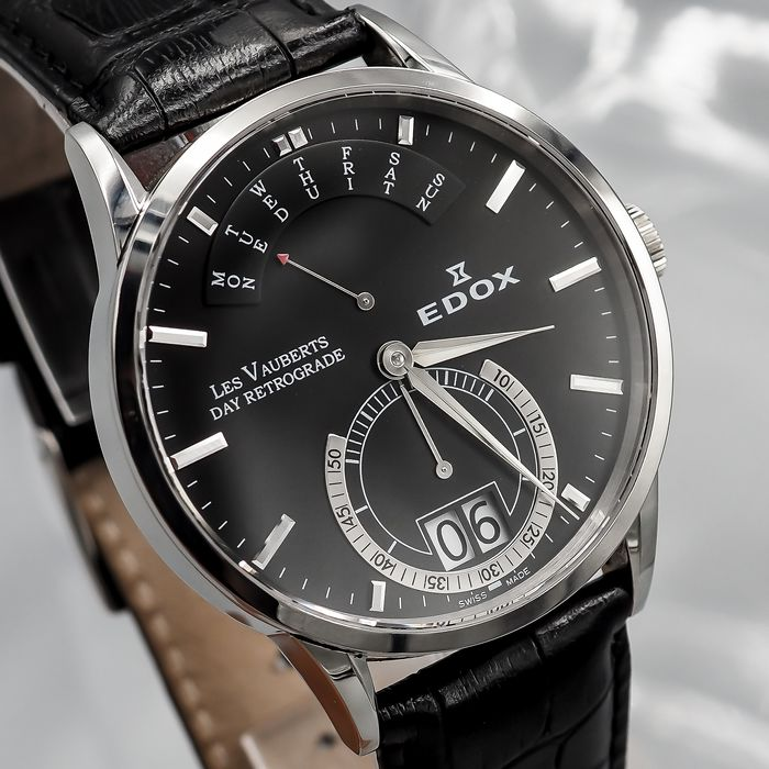 "Edox - Les Vauberts Day Retrograde - 34001 3 NIN -""NO RESERVE PRICE"" - Heren - 2011-heden"