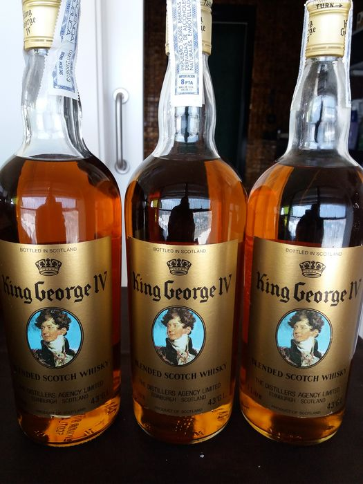 King George IV - b. 1960s, early 1970s - 1.0 Litre - 3 bottles