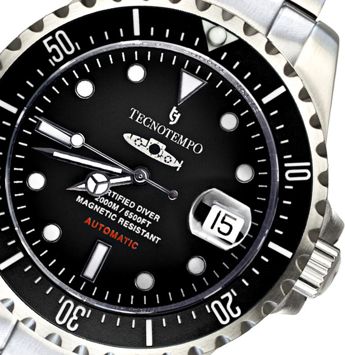 "Tecnotempo -  ""NO RESERVE PRICE"" Born For Depths"" - LIMITED EDITION 50PCS - TT.2000.SN (Black) - Men - 2020"