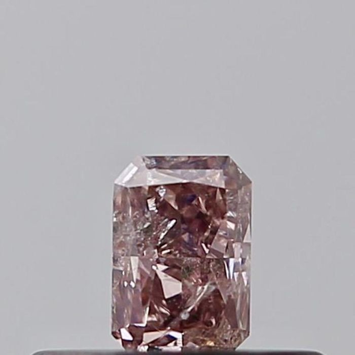 1 pcs Diamant - 0.21 ct - Radiant - fancy pinkish brown - I2, ***no reserve***