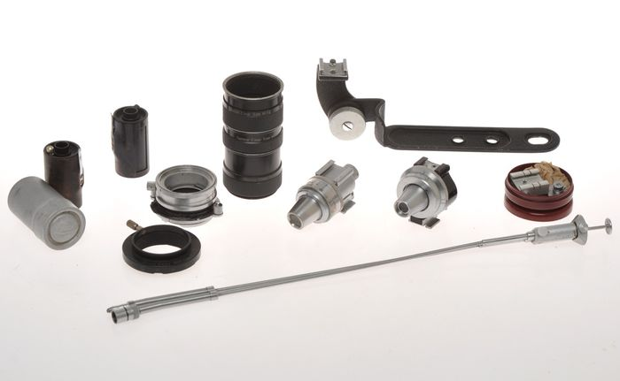 Leitz various accessories, Viooh, Vidom... for Leica cameras, sold as is