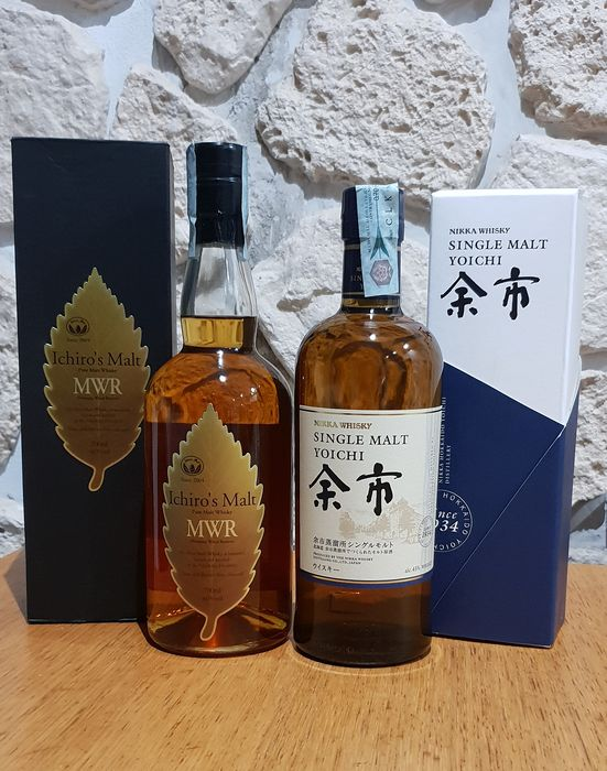 Chichibu Mizunara Wood Reserve MWR & Yoichi - Original bottling - 70cl - 2 bottles