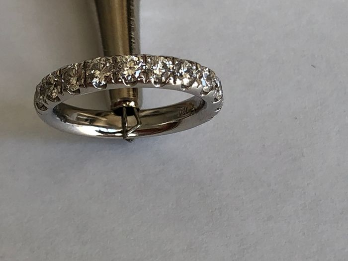 18 karaat Witgoud - Ring - Diamanten