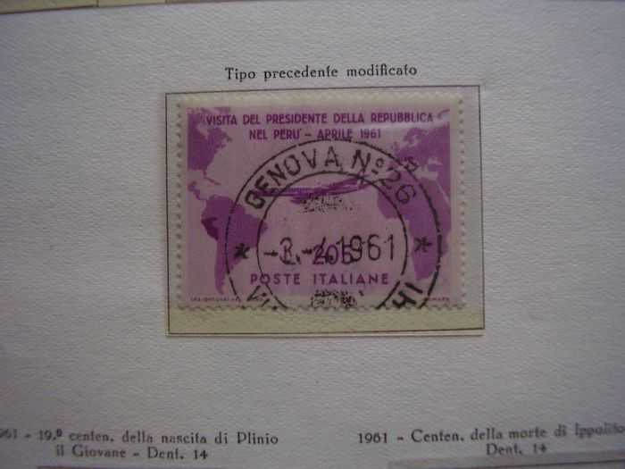 Italien Republik 1945/1992 - Complete used collection with Gronchi Rosa and Gymnastics
