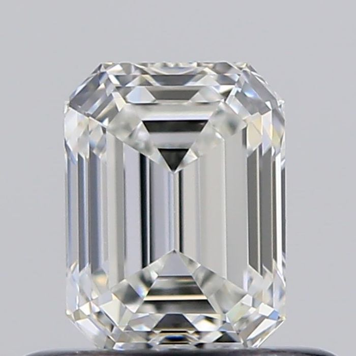 1 pcs Diamant - 0.50 ct - Smaragd - G - IF (makellos)