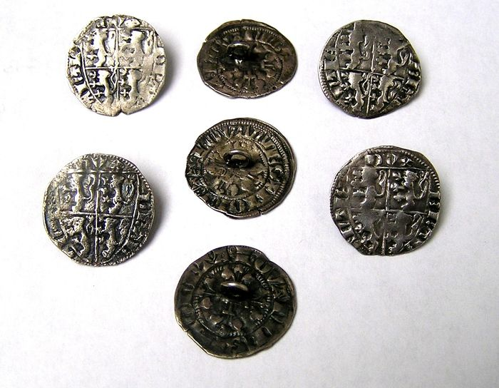 Buttons (7) - .833 silver - Netherlands - Most likely 17th or 18th century.
