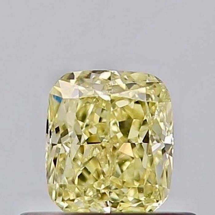 1 pcs Diamant - 0.44 ct - Coussin - fancy yellow - SI2
