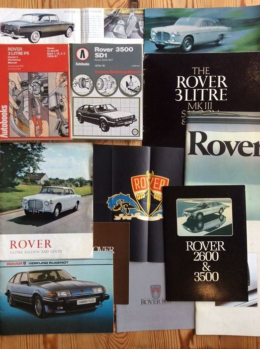Folletos / Catálogos - 3 and 3.5 litre models, and others - Rover - 1960-1970