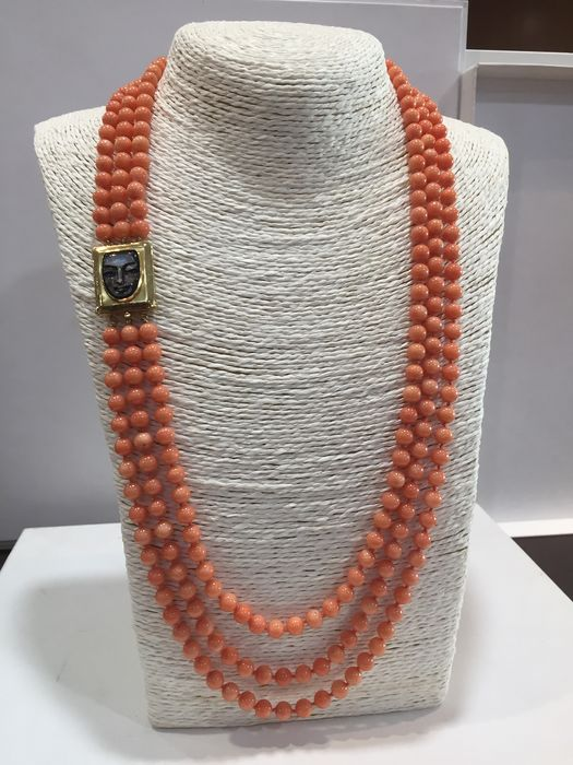 18 kt. coral - Necklace coral