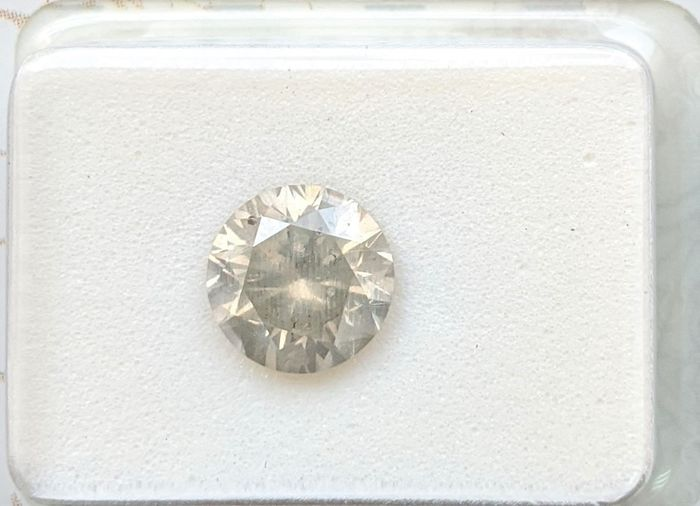 Diamant - 1.62 ct - Brillant - Fancy Greyish Yellow - SI2, No Reserve Price