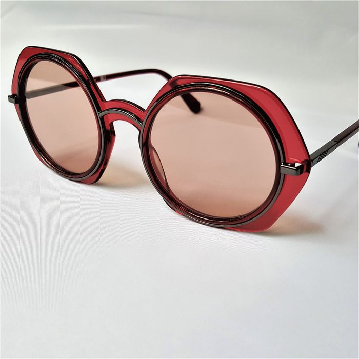 ill.i Optics by Will.i.am - Round Red Special Double Frame - 2020 - Made in Italy - New Sunglasses