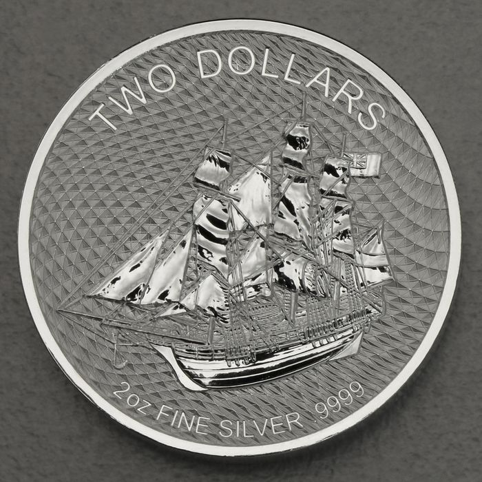 Cook-Inseln. 2 Dollars 2020 Cook Island Bounty New Generation - 2 oz