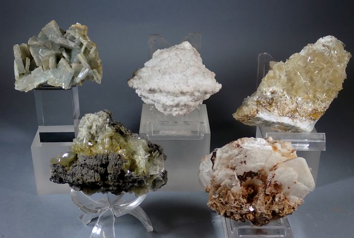 Baryte (barite) Mineral Collection - 683 g - (5)