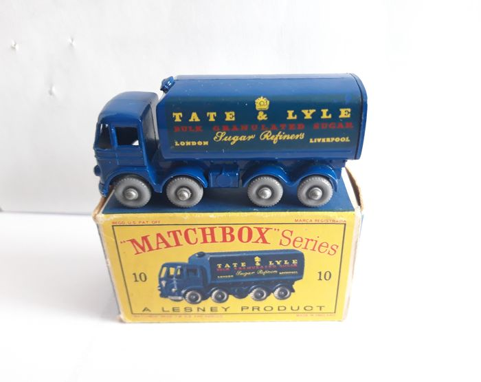 Matchbox - 1:64 - Foden 15 Ton Sugar Container Nr 10 - Sugar Container 10 Matchbox Lesney Moko Gpw + D Box Mint Condition