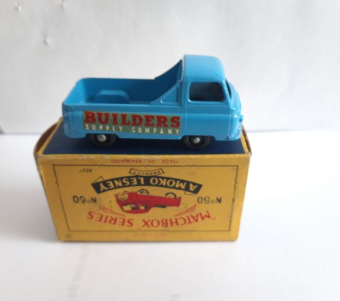 Matchbox - 1:64 - Morris J2 Pick-Up 60A - mint model BPW no window & htf large b5 box mint