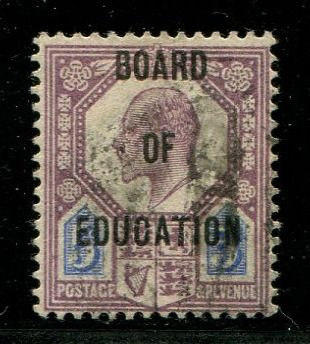 Großbritannien 1902 - 5 pence dull purple & ultramarine BOARD OF EDUCATION - Stanley Gibbons O86