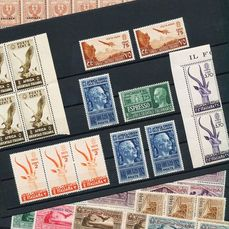 Italie - Colonies (questions générales) - Compilation of Italian colonies, MNH, on three cards