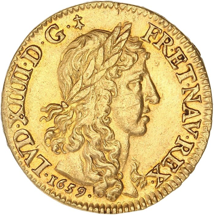 France - Louis XIV - Louis d'or au buste juvénile 1659-A (Paris) - Gold