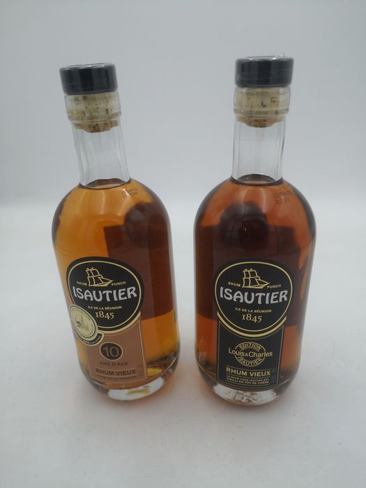 Isautier 10 years old - 10 years old - Edition Louis & Charles Isautier - 70cl - 2 bottles
