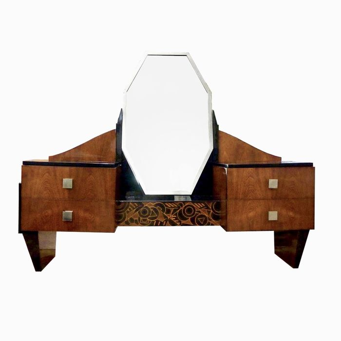 """Modernist French - Art Deco """"JAZZ"""" Vanity/Coiffeuse (1)"""