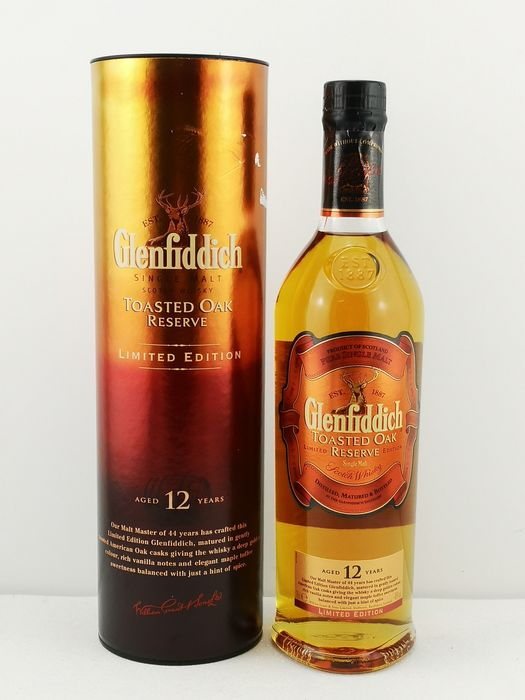 Glenfiddich 12 years old Toasted Oak Reserve limited edition - Original bottling - 70cl